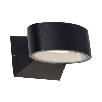 Quebec IP54 Outdoor LED Wall Light, Black