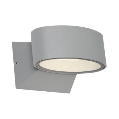 Quebec IP54 Outdoor LED Wall Light, Silver