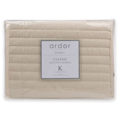 Ardor Boudoir Quilted Valance, King, Cream