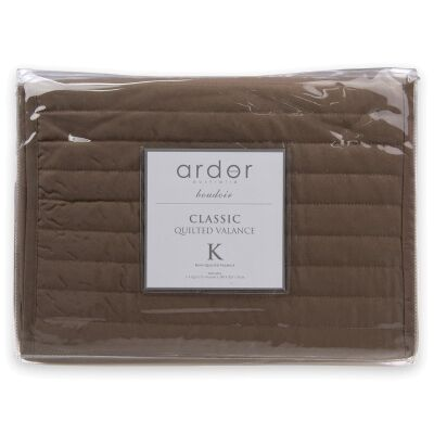Ardor Boudoir Quilted Valance, King Single, Mocha