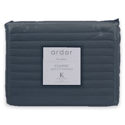 Ardor Boudoir Quilted Valance, Double, Navy