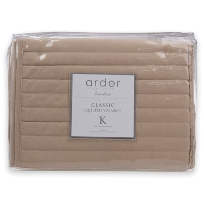 Ardor Boudoir Quilted Valance, Single, Stone