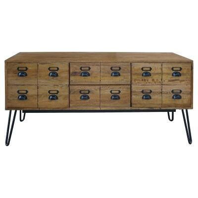 Leroy Mango Wood & Iron 2 Door 2 Drawer Sideboard, 160cm