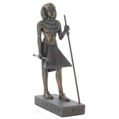 Cast Bronze Guardian Statue of King Tutankhamun