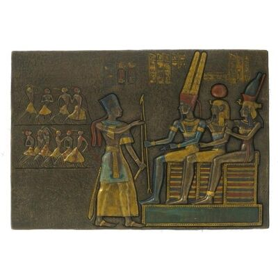 Egyptian Pharaoh Offering Prisoners Wall Plaque