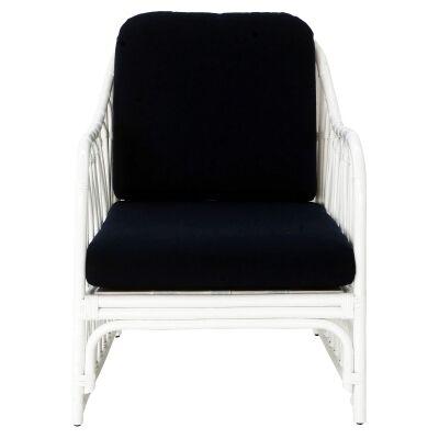 Albion Rattan Armchair, White