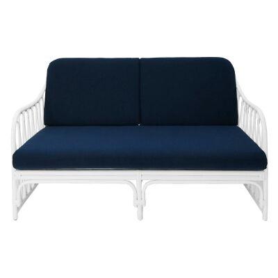 Albion Rattan Sofa, 2.5 Seater, White