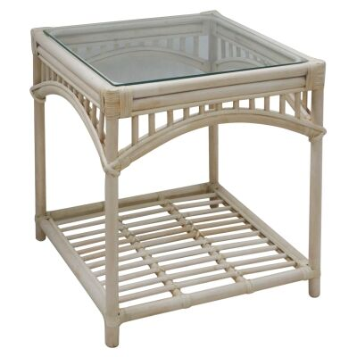 Martello Rattan Side Table, Natural