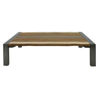 Breaside Timber & Metal Coffee Table, 178cm