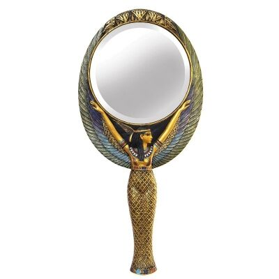 Cast Bronze Maat Hand Mirror