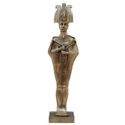 Cast Bronze Egyptian Mythology Figurine, Standing Osiris
