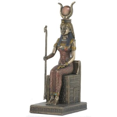 Egyptian Mythology Figurine, Sitting Isis