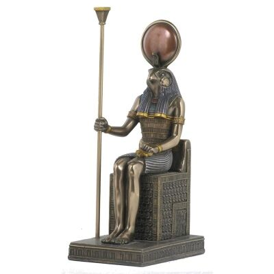 Egyptian Mythology Figurine, Sitting Horus