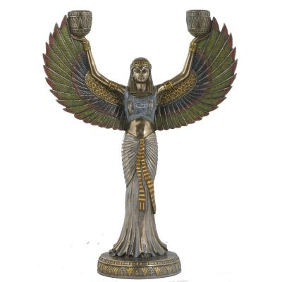 Cast Bronze Isis Candle Holder
