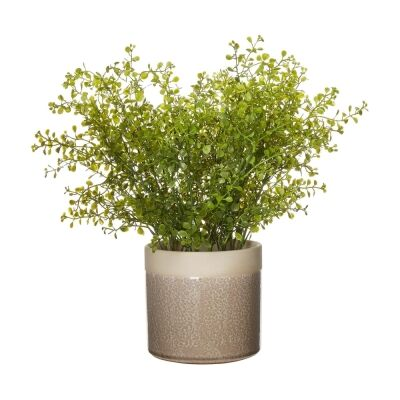 Artificial Rice Seed Greenery in Ceramic Pot