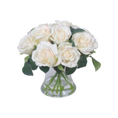 Sofia Artificial Rose in Glass Vase