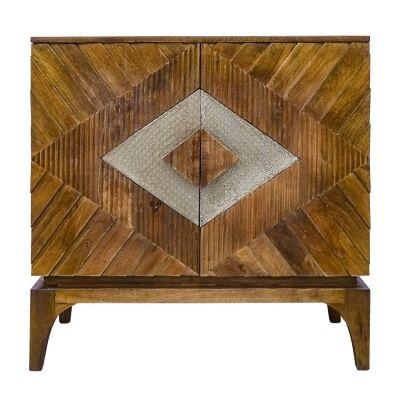 Dimbani Wooden 2 Door Accent Cabinet