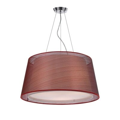 Rachel Fabric Pendant Light, Small, Red