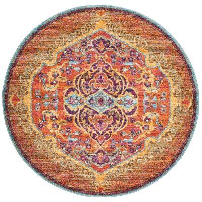 Radiance No.422 Bohemian Round Rug, 150cm