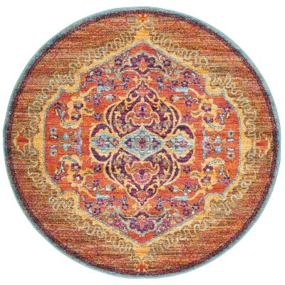 Radiance No.422 Bohemian Round Rug, 200cm