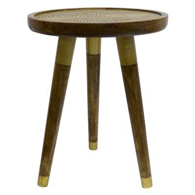 Kipo Mango Wood Round Side Table