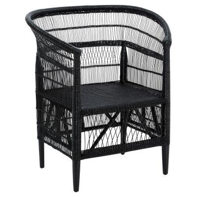 La Palma Wicker Armchair, Black
