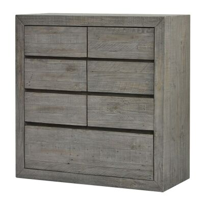 Rustic Bayview Reclaimed Timber 7 Drawer Tallboy