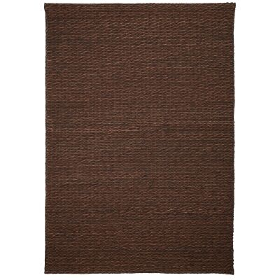 Rockport Handmade Leather Rug, 290x200cm, Brown