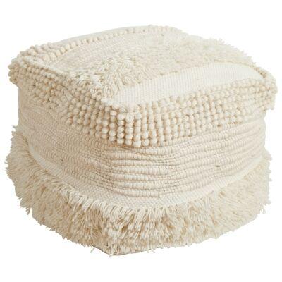 Cosima Handcrafted Wool Ottoman