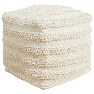 Melody Handcrafted Wool Ottoman