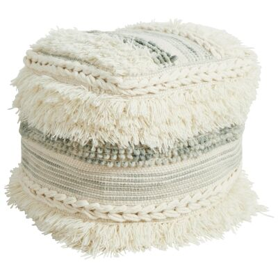 Shiloh Handcrafted Wool Ottoman