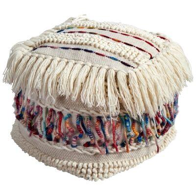 Amethyst Handcrafted Wool Ottoman