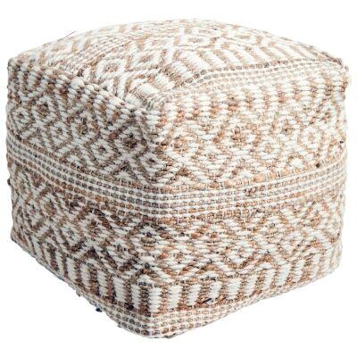 Penelope Handcrafted Wool & Hemp Ottoman