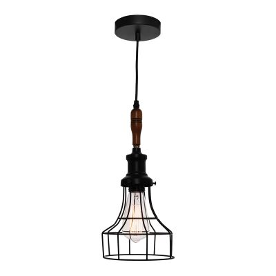 Reed Metal Cage Pendant Light