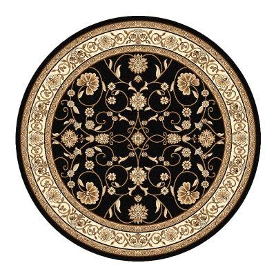 Cyropolis Jaslyn Oriental Round Rug, 160cm, Black