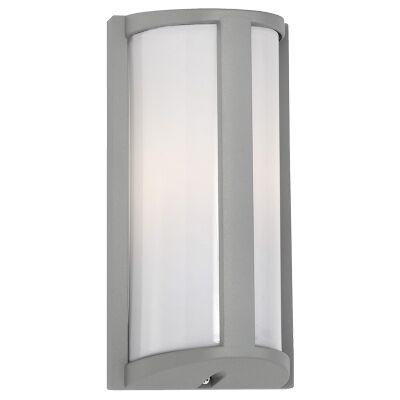 Regina IP44 Outdoor Wall Light, Silver