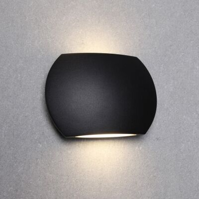 Remo IP54 Exterior Up/Down LED Wall Light, Black