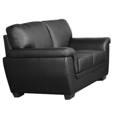 Reno PU Leather 2 Seater Sofa, Black