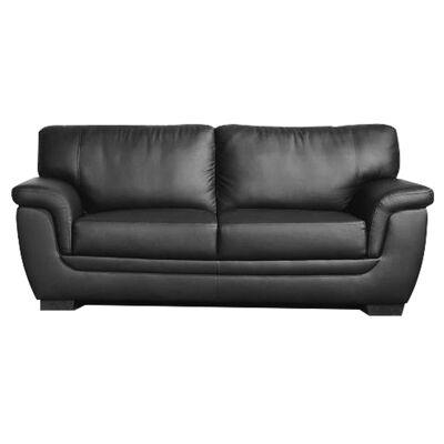 Reno PU Leather 2.5 Seater Sofa - Black