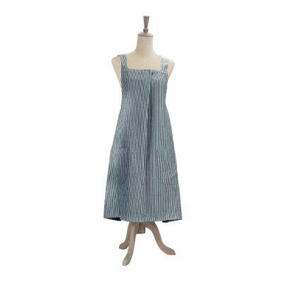 Abby Stripe Fabric Apron, Blue