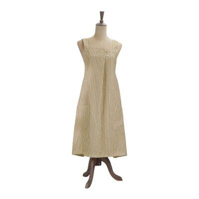 Abby Stripe Fabric Apron, Mustard