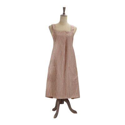 Abby Stripe Fabric Apron, Terracotta