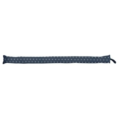 Mathis Fabric Draught Stopper, Thin, Blue