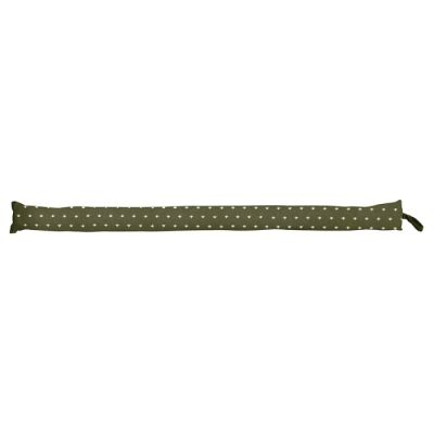 Mathis Fabric Draught Stopper, Thin, Olive