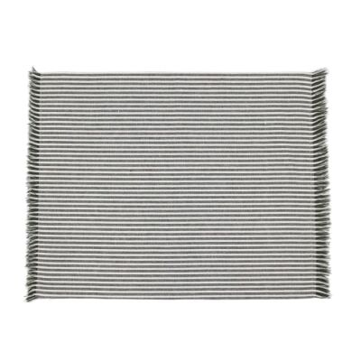 Abby 4 Piece Stripe Fabric Placemat Set, Olive