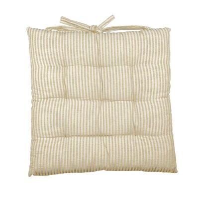 Abby Stripe Fabric Seat Cushion, Mustard