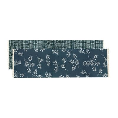 Olive Grove & Cotswold Fabric Table Runner, 150cm, Blue