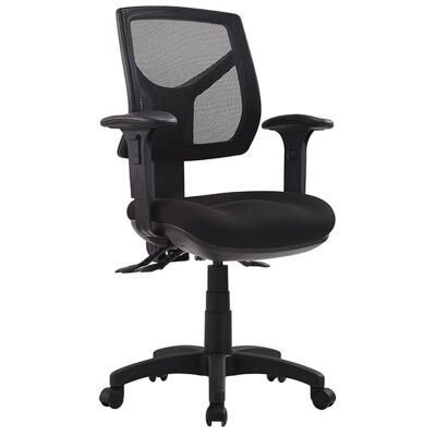 Rio Fabric Task Office Chair with Arm, Low Back