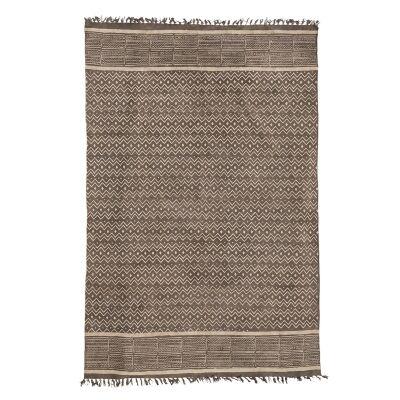 Saoirse Tassel Printed Cotton Rug, 160x230cm