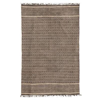 Saoirse Tassel Printed Cotton Rug, 200x290cm